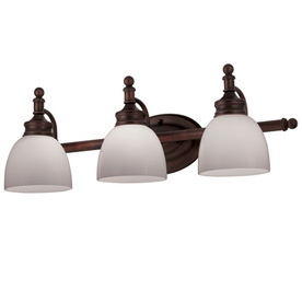 Shop Portfolio 3-Light Oil-Rubbed Bronze Bathroom Vanity Light at