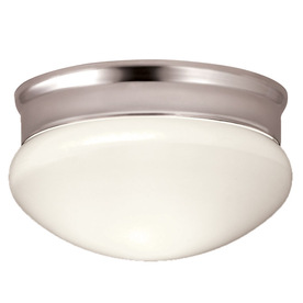 Portfolio 9-1/8-in Polished Chrome Ceiling Flush Mount