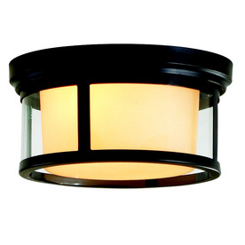 allen + roth 13-1/4-in Dark Oil-Rubbed Bronze Ceiling Flush Mount