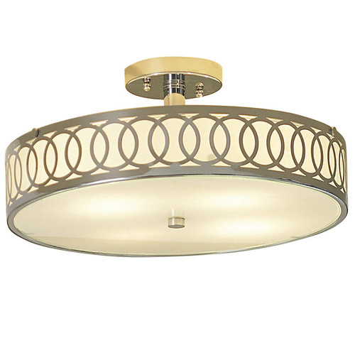 Zoomed: allen + roth Polished Chrome Flush Mount