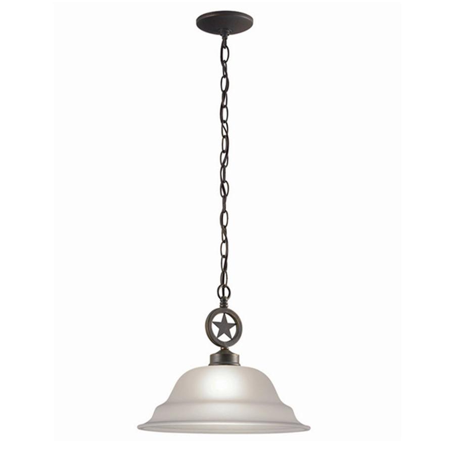 Shop Portfolio Texas Star 15 In W Darkened Bronze Pendant