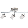 Bel Air Lighting 22-1/4-in Brushed Nickel Frosted Glass Semi-Flush Mount Light