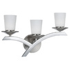 Bel Air Lighting 3-Light Brushed Nickel LED Bathroom Vanity Light