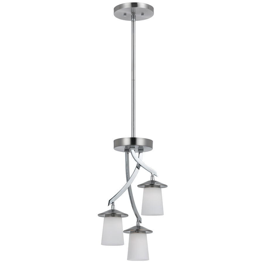 Brushed Nickel Kitchen Island Pendant Light Fixture Dining: 3-Light LED Ceiling Pendant Brushed Nickel Contemporary