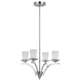Bel Air Lighting 4-Light Brushed Nickel Chandelier