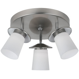 Bel Air Lighting 15-in W Brushed Nickel LED Ceiling Flush Mount