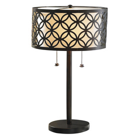 allen + roth 25-in Oil-Rubbed Bronze Indoor Table Lamp with Metal Shade