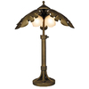 Portfolio 27-1/2-in Oil-Rubbed Bronze Outdoor Table Lamp with White Shade