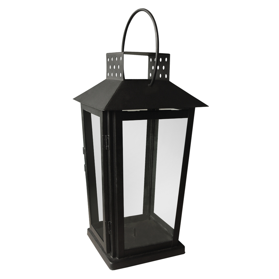 Lowes Novelty Lighting : Shop Bel Air Lighting 8.25-in H Black Metal Tea Light Outdoor Decorative Lantern at Lowes.com