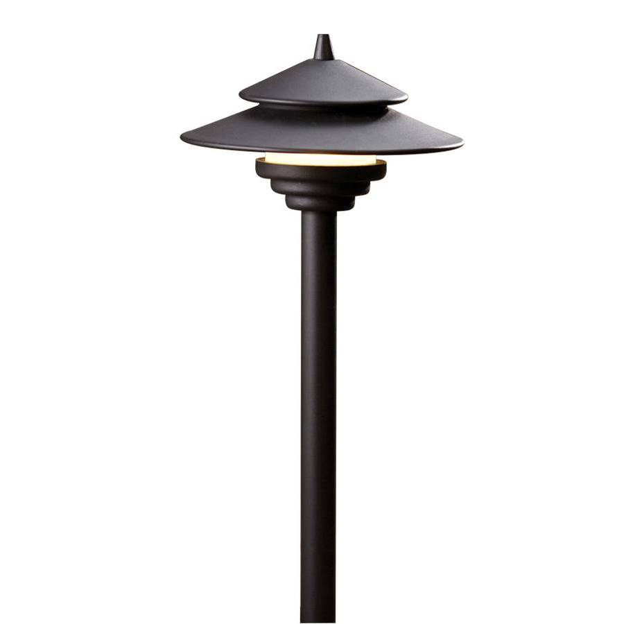 Allen roth black low voltage led path light ebay for Low voltage led patio lights