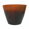 allen + roth 13-in H x 14-in W x 10-in D Ochre Planter