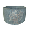 Garden Treasures 5.12-in H x 7.48-in W x 7.48-in D Blue Planter