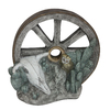 Garden Treasures 13.39-in H Wagon Wheel-Skull Garden Statue