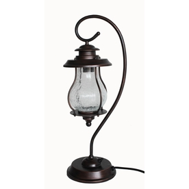 allen + roth 24-5/8-in H Oil-Rubbed Bronze Outdoor Table Lamp with Shade Shade
