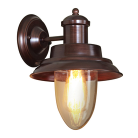 allen + roth 8-1/4-in W 1-Light Oil Rubbed Bronze Arm Wall Sconce