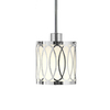 Style Selections 5-5/8-in W Polished Chrome Mini Pendant Light with White Shade