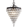 Bel Air Lighting 8-1/2-in W Bronze Mini Pendant Light with Crystal Shade