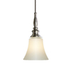 allen + roth 6-1/2-in W Brushed Nickel Mini Pendant Light with Frosted Shade