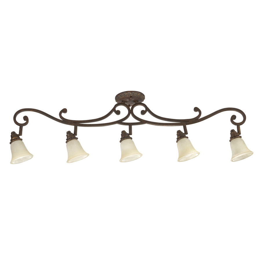 lola 5 light golden bronze fixed track light kit at. Black Bedroom Furniture Sets. Home Design Ideas