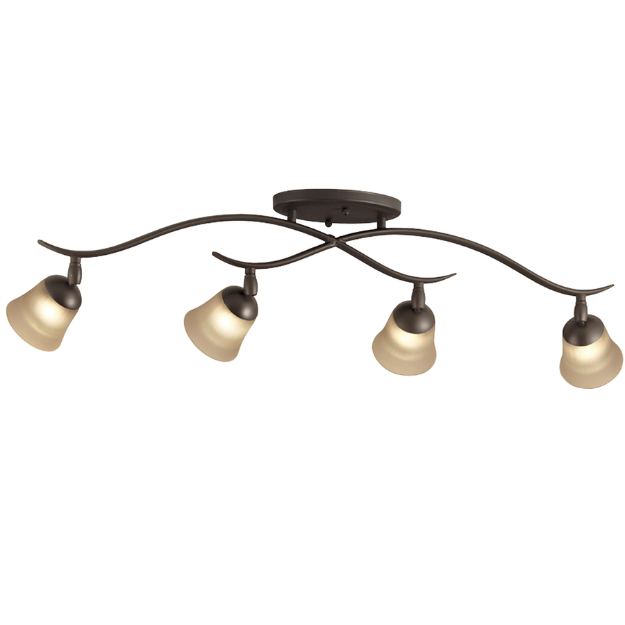 Shop Portfolio 4-Light Olde Bronze Flush Mount Fixed Track ...