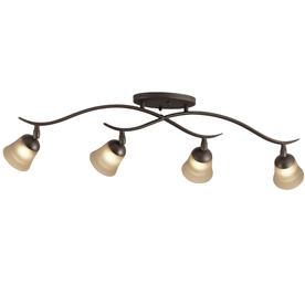Portfolio 4-Light 32-in Olde Bronze Dimmable Fixed Track Light Kit