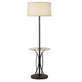 Portfolio Lebach 56-in 3-Way Olde Bronze Indoor Floor Lamp with Fabric Shade