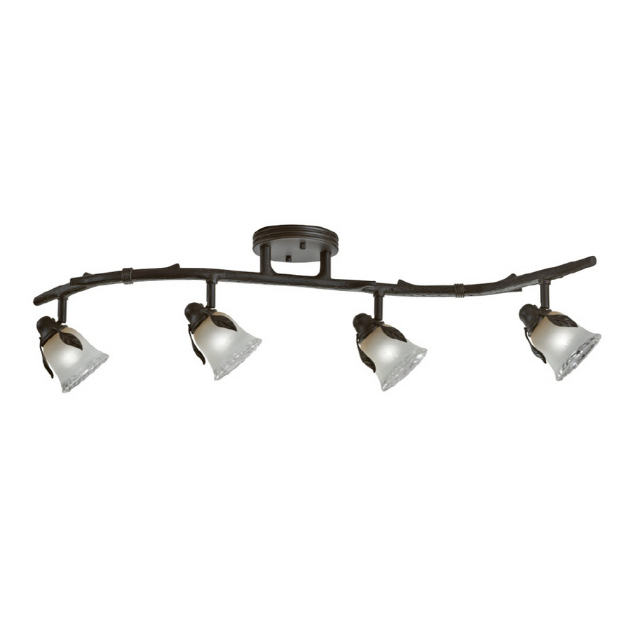 rustic track lighting fixtures shop portfolio 4 light
