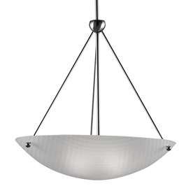 Westwood Collection Basket Weave 22-in W Brushed Nickel Standard Pendant Light with Frosted Shade