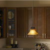 allen + roth 6.5-in W Tannery Bronze Standard Mini Pendant Light with Frosted Glass Shade