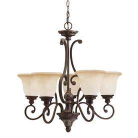 Portfolio 5-Light Bronze Traditional Chandelier