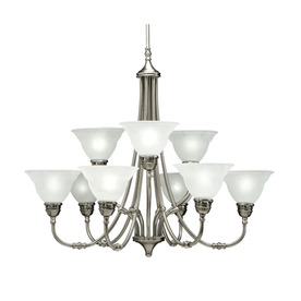 Portfolio 9-Light Newport Antique Pewter Chandelier