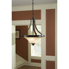 Portfolio Danrich Marina 15.875-in W Black Bronze Pendant Light with Frosted Glass Shade