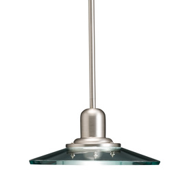 allen + roth 10-in W Galileo Brushed Nickel Mini Pendant Light with Clear Shade