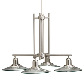 allen + roth Galileo 4-Light Brushed Nickel Chandelier