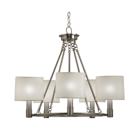 Portfolio 5-Light  Brushed Nickel Chandelier