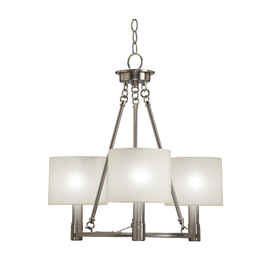 Portfolio 3-Light Aztec Brushed Nickel Chandelier