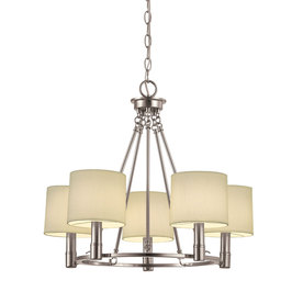 Portfolio 5-Light Aztec Brushed Nickel Chandelier