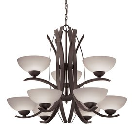 Portfolio Lebach 9-Light Olde Bronze Chandelier