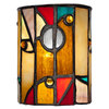 allen + roth 5-in H x 4-in W Multicolor Tiffany-Style Glass Mini Pendant Shade