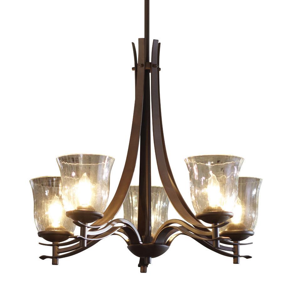 Shop allen roth 5 light olde bronze standard chandelier Allen and roth lighting