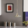 allen + roth Galileo 10-in W Brushed Nickel Mini Pendant Light with Clear Shade