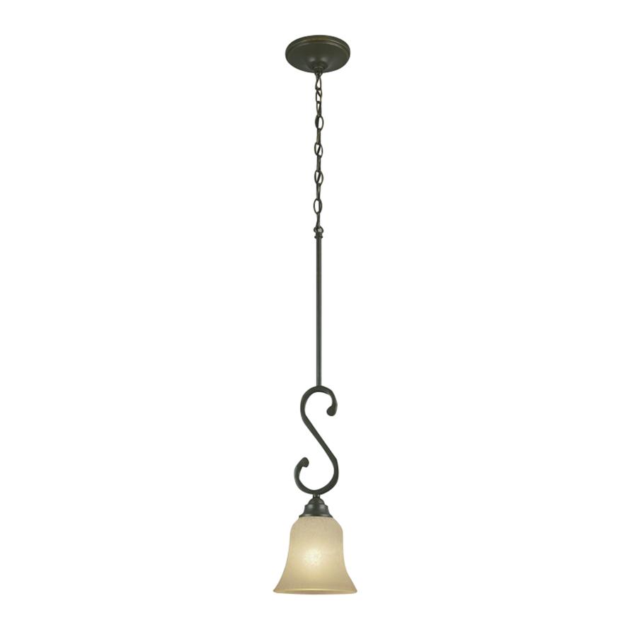 shop portfolio linkhorn 6 in w iron mini pendant