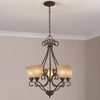 Portfolio Linkhorn 5-Light Iron Stone Chandelier