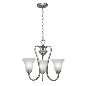 Portfolio brushed nickel 3 light chandelier shop portfolio guilderland 3light brushed nickel aloadofball Gallery