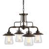 allen + roth Bristow 4-Light Specialty Bronze Standard Chandelier