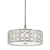 Kichler Lighting Sabine 17.99-in W Brushed Nickel Pendant Light with Fabric Shade