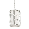 Kichler Lighting Sabine 10-in W Brushed Nickel Pendant Light with Fabric Shade