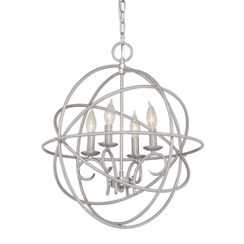 Display Product Reviews For Vivian 19.02 In 4 Light Brushed Nickel Globe  Chandelier