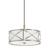 Kichler Lighting Edenbrook 17.01-in W Brushed Nickel Pendant Light with Fabric Shade