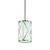 Kichler Lighting Edenbrook 6.46-in W Brushed Nickel Mini Pendant Light with Frosted Shade